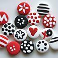 Mini-boutons Cerise