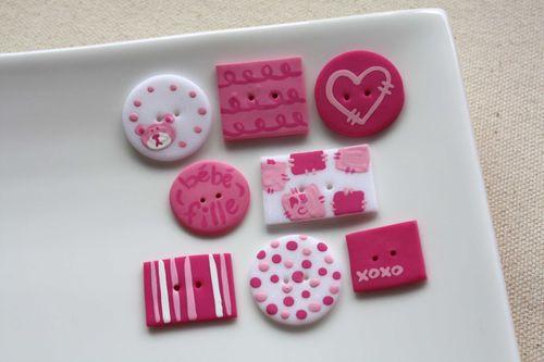 Boutons Bébé Fille / Baby Girl Buttons