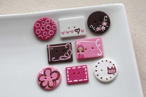 Boutons Petite Princesse / Princess Buttons