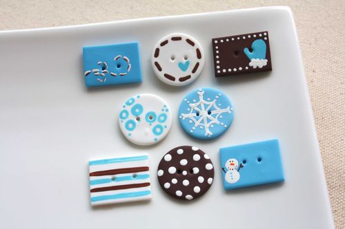 Boutons Neige / Snow Buttons