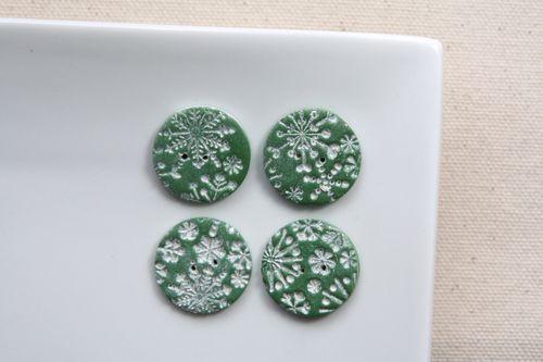 Boutons Flocons (Vert)