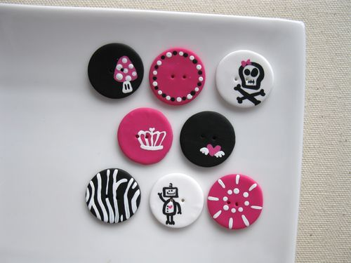 Boutons Freestyle Rose- Buttons Freestyle