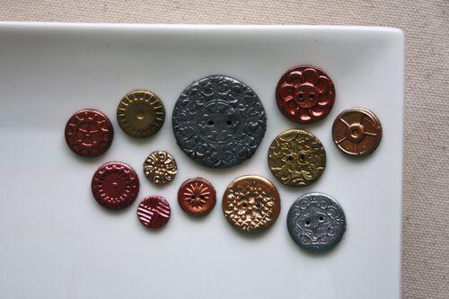 Boutons métalliques - Metallic buttons